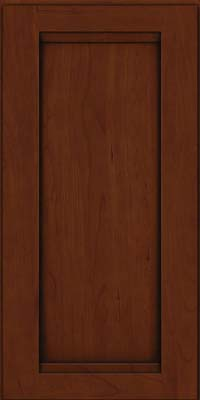 Square Recessed Panel - Veneer (SNC) Cherry in Autumn Blush w/Onyx Glaze - Wall