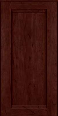 Square Recessed Panel - Veneer (SNC) Cherry in Cabernet - Wall