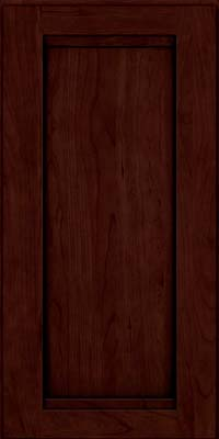 Square Recessed Panel - Veneer (SNC) Cherry in Cabernet w/Onyx Glaze - Wall