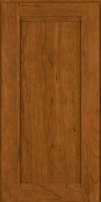 Square Recessed Panel - Veneer (SNC) Cherry in Golden Lager - Wall