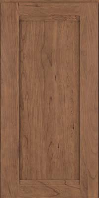 Square Recessed Panel - Veneer (SNC) Cherry in Husk Suede - Wall