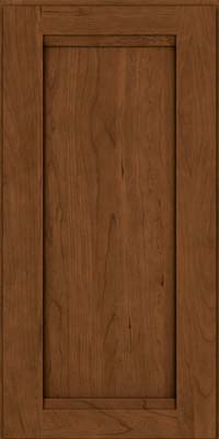 Square Recessed Panel - Veneer (SNC) Cherry in Rye w/Sable Glaze - Wall