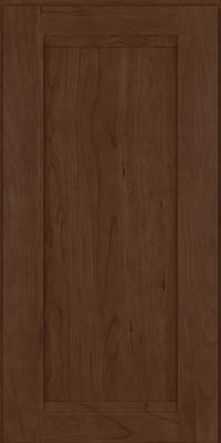 Square Recessed Panel - Veneer (SNC) Cherry in Saddle Suede - Wall