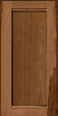 Square Recessed Panel - Veneer (AC8H) Hickory in Rye w/Onyx Glaze - Wall