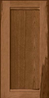 Square Recessed Panel - Veneer (AC8H) Hickory in Rye w/Sable Glaze - Wall