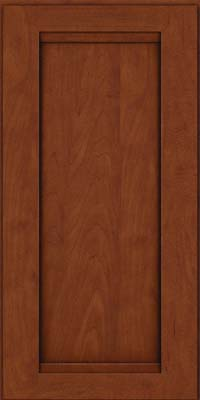 Square Recessed Panel - Veneer (SNM) Maple in Chestnut w/Onyx Glaze - Wall