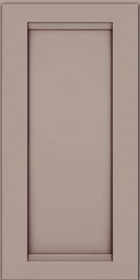 Square Recessed Panel - Veneer (SNM) Maple in Pebble Grey w/ Cocoa Glaze - Wall