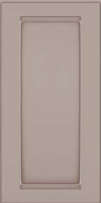 Square Recessed Panel - Veneer (SNM) Maple in Pebble Grey w/ Coconut Glaze - Wall