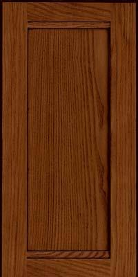 Square Recessed Panel - Veneer (AC8O) Oak in Autumn Blush w/Onyx Glaze - Wall