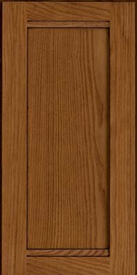 Square Recessed Panel - Veneer (AC8O) Oak in Chocolate w/Mocha Glaze - Wall