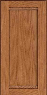 Square Recessed Panel - Veneer (AC8O) Oak in Ginger w/Sable Glaze - Wall