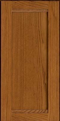 Square Recessed Panel - Veneer (AC8O) Oak in Golden Lager - Wall