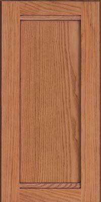 Square Recessed Panel - Veneer (AC8O) Oak in Honey Spice w/Mocha Highlight - Wall