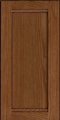 Square Recessed Panel - Veneer (AC8O) Oak in Rye w/Onyx Glaze - Wall