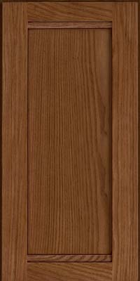 Square Recessed Panel - Veneer (AC8O) Oak in Rye w/Sable Glaze - Wall