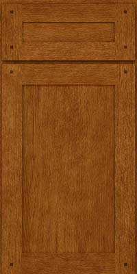 Square Recessed Panel - Veneer (SU) Oak in Golden Lager - Base