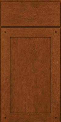 Square Recessed Panel - Veneer (SU) Quartersawn Oak in Autumn Blush - Base