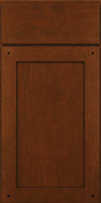 Square Recessed Panel - Veneer (SU) Quartersawn Oak in Autumn Blush w/Onyx Glaze - Base
