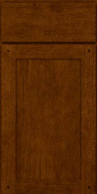 Square Recessed Panel - Veneer (SU) Quartersawn Oak in Cognac - Base