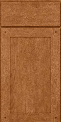 Square Recessed Panel - Veneer (SU) Quartersawn Oak in Fawn - Base