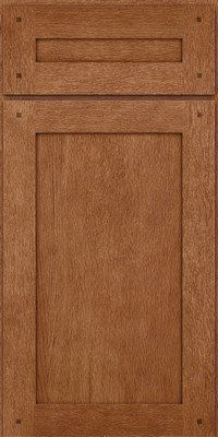 Square Recessed Panel - Veneer (SU) Quartersawn Oak in Ginger w/Sable Glaze - Base