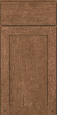 Square Recessed Panel - Veneer (SU) Quartersawn Oak in Husk - Base