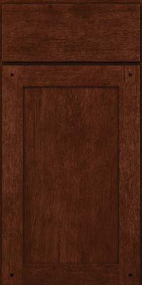 Square Recessed Panel - Veneer (SU) Quartersawn Oak in Kaffe - Base