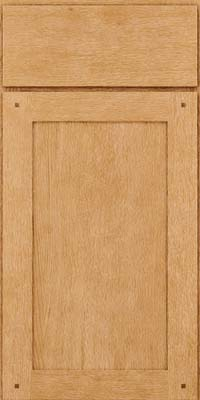 Square Recessed Panel - Veneer (SU) Quartersawn Oak in Natural - Base