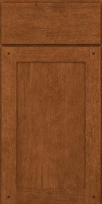 Square Recessed Panel - Veneer (SU) Quartersawn Oak in Rye - Base