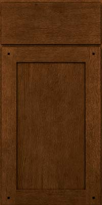 Square Recessed Panel - Veneer (SU) Quartersawn Oak in Rye w/Onyx Glaze - Base