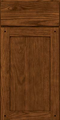 Square Recessed Panel - Veneer (SU) Quartersawn Oak in Rye w/Sable Glaze - Base