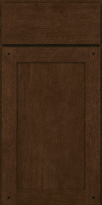 Square Recessed Panel - Veneer (SU) Quartersawn Oak in Saddle - Base
