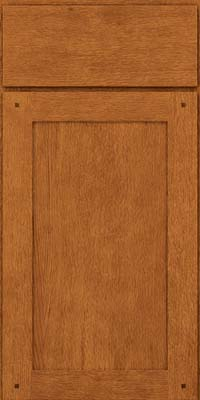 Square Recessed Panel - Veneer (SU) Quartersawn Oak in Toffee - Base