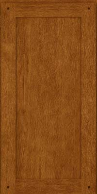 Square Recessed Panel - Veneer (SU) Oak in Golden Lager - Wall