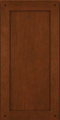 Square Recessed Panel - Veneer (SU) Quartersawn Oak in Autumn Blush w/Onyx Glaze - Wall