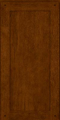 Square Recessed Panel - Veneer (SU) Quartersawn Oak in Cognac - Wall
