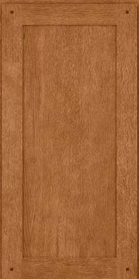 Square Recessed Panel - Veneer (SU) Quartersawn Oak in Fawn - Wall