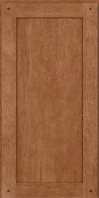 Square Recessed Panel - Veneer (SU) Quartersawn Oak in Ginger w/Sable Glaze - Wall