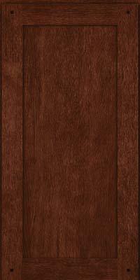 Square Recessed Panel - Veneer (SU) Quartersawn Oak in Kaffe - Wall