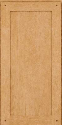 Square Recessed Panel - Veneer (SU) Quartersawn Oak in Natural - Wall
