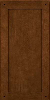 Square Recessed Panel - Veneer (SU) Quartersawn Oak in Rye w/Onyx Glaze - Wall