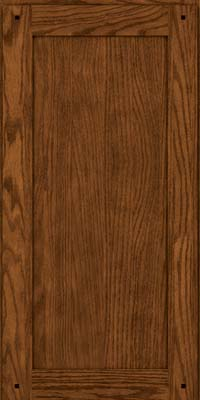 Square Recessed Panel - Veneer (SU) Quartersawn Oak in Rye w/Sable Glaze - Wall