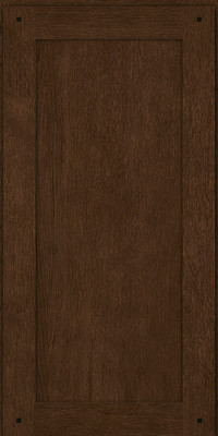 Square Recessed Panel - Veneer (SU) Quartersawn Oak in Saddle - Wall
