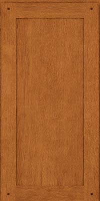 Square Recessed Panel - Veneer (SU) Quartersawn Oak in Toffee - Wall