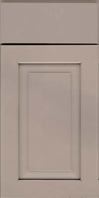 Square Raised Panel - Solid (WLM) Maple in Pebble Grey - Base