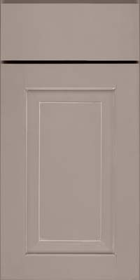 Square Raised Panel - Solid (WLM) Maple in Pebble Grey w/ Coconut Glaze - Base