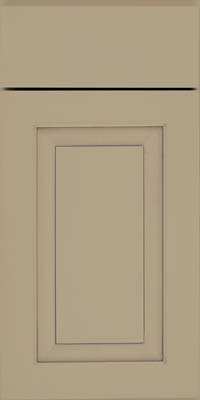 Square Raised Panel - Solid (WLM) Maple in Willow w/ Cinder Glaze - Base