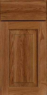 Square Raised Panel - Solid (WLO) Oak in Ginger w/Sable Glaze - Base