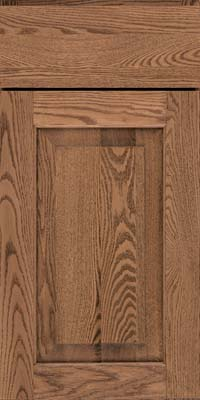 Square Raised Panel - Solid (WLO) Oak in Husk - Base