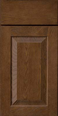 Square Raised Panel - Solid (WLO) Oak in Saddle - Base